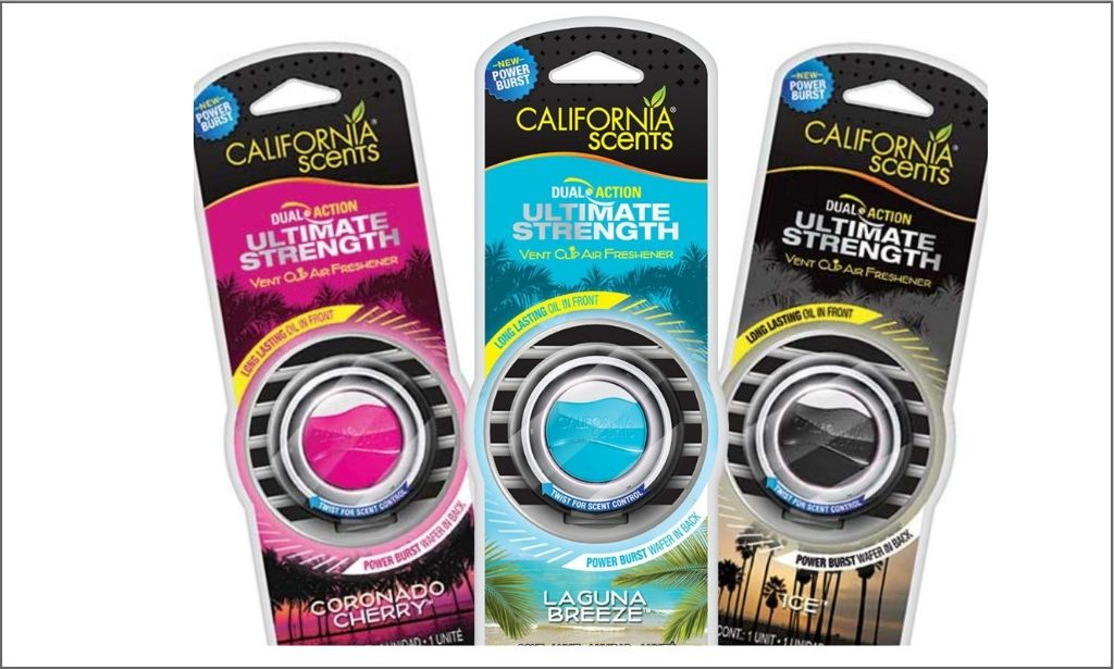 Bordered image of california scent vent clips