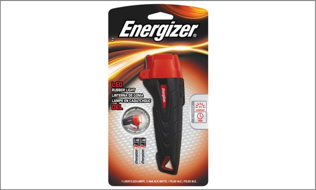 Energier rubber handle flashlight AAA type batteries