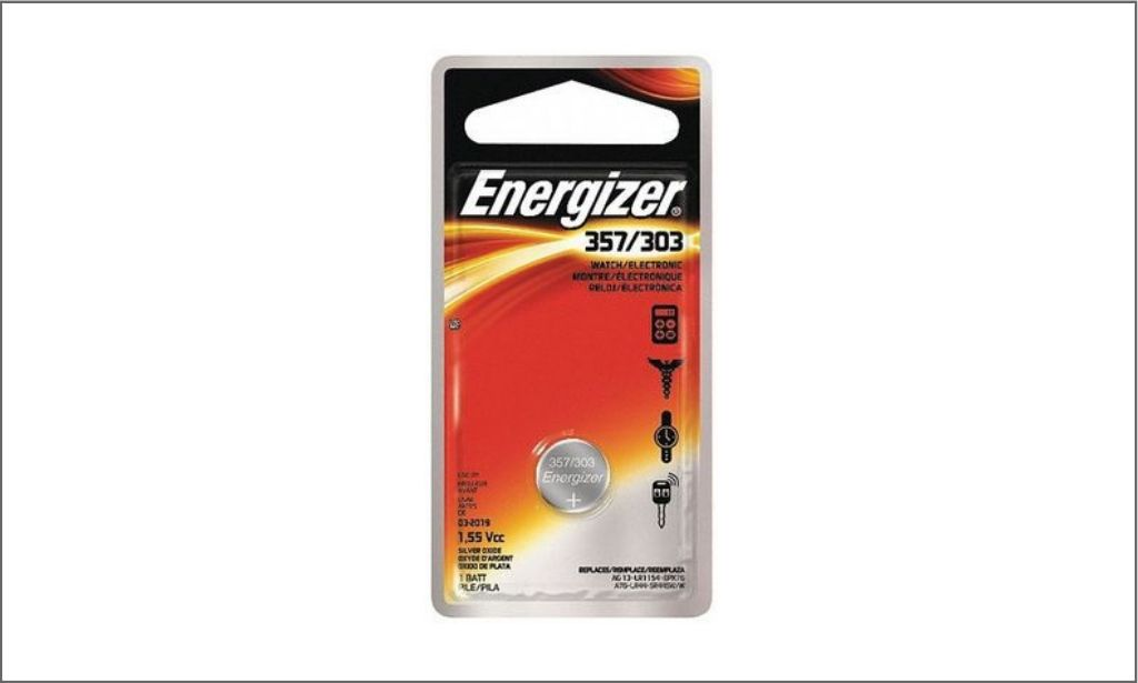Picture of energizer coin battery 357 bordered