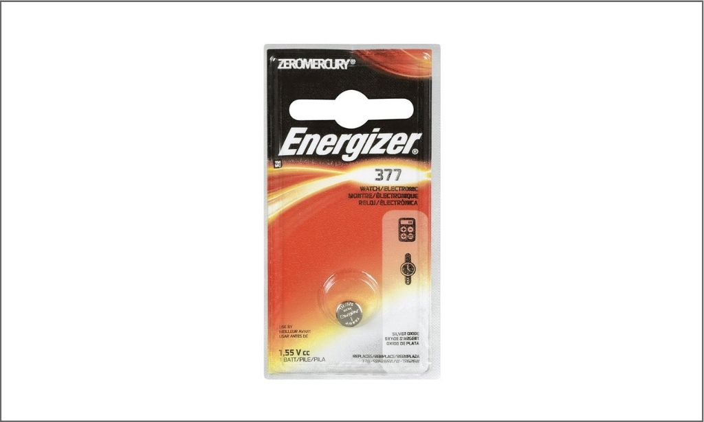 Picture of energizer coin battery 377