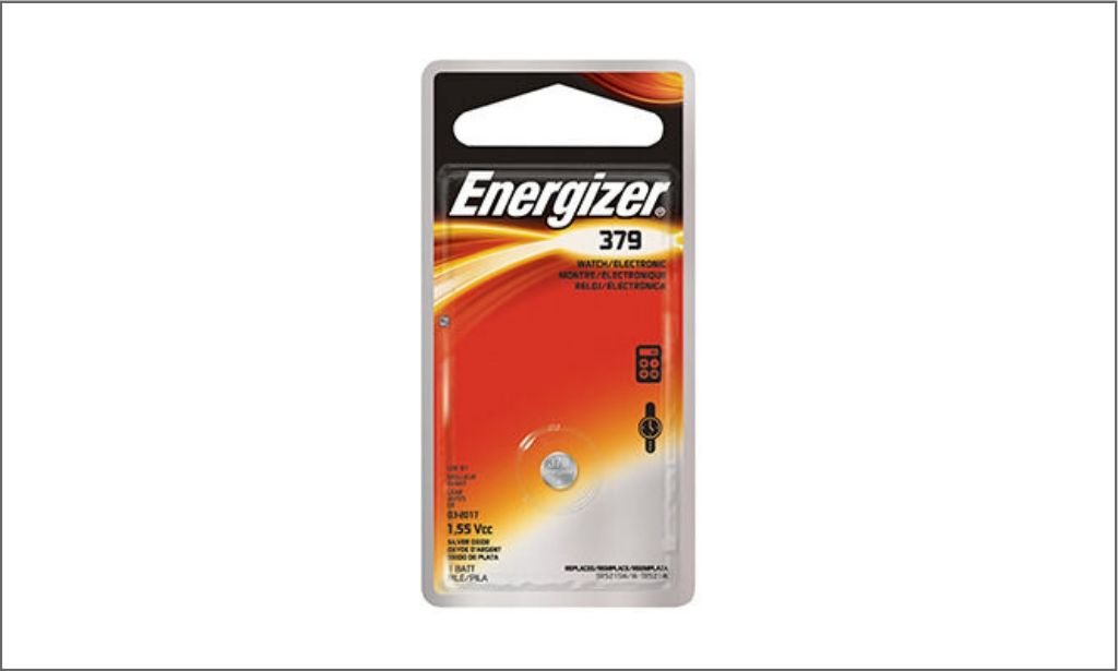 Picture of energizer coin battery 379 bordered