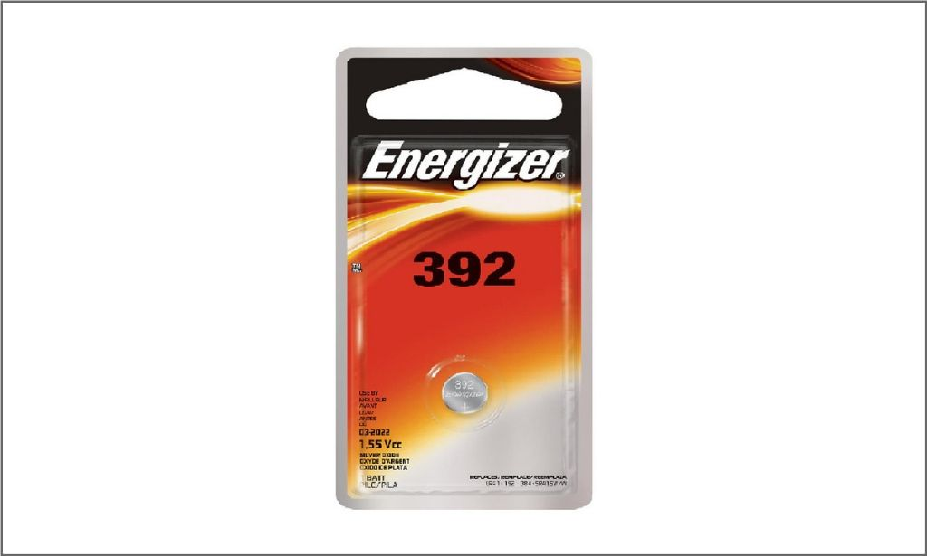 Energizer Coin Battery 392 Bordered