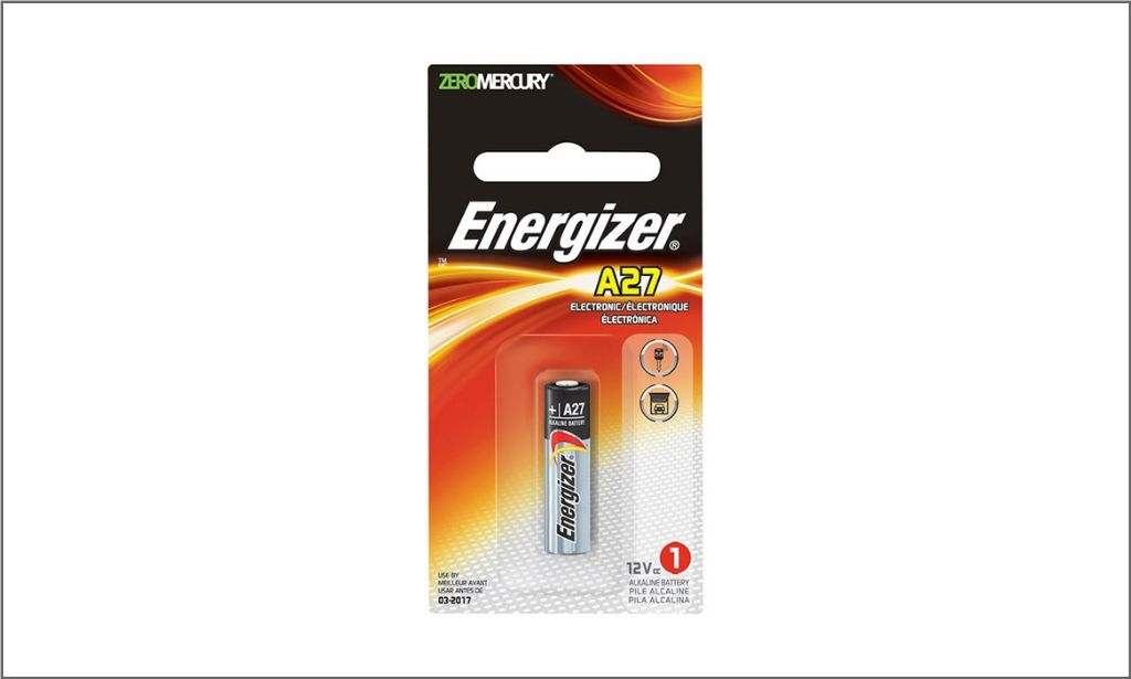 Picture of Energizer A27 Coin battery bordered