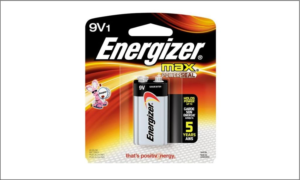 Picture of energizer Max 9v1 battery bordered