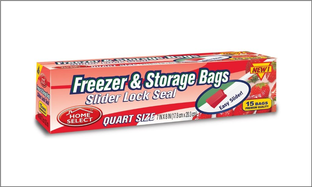 Picture of Home Select Freezer and Sorage Bags - Slider Lock Seal