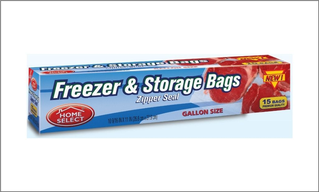 Picture of Home Select Freezer and Sorage Bags - Zipper Seal
