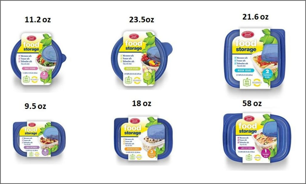 Home Select - Storage Containers bordered and labelled