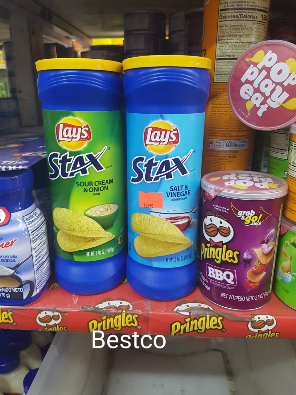 Frito Lay Stax on the shelf